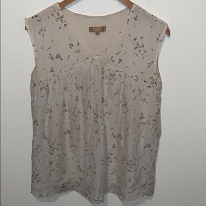 Carla Conti Silk Sleeveless  Blouse
